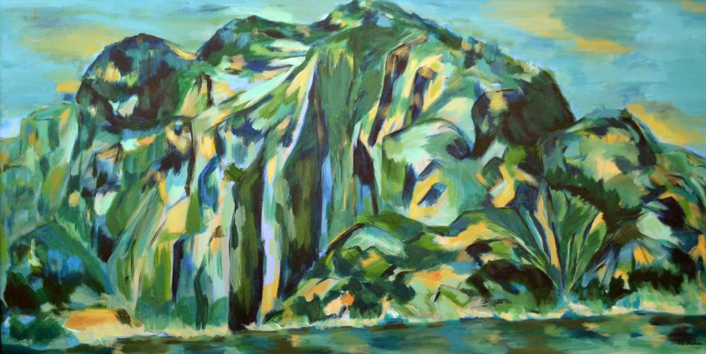 """Vista from Saguenay Fjord, Quebec"" - Acrylic on Canvas - 48 X 24"""